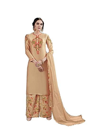 bc4fb38579 Designer Pakistani Style Semi-Stitched Jam-Silk with Hand Work Plazzo Suit  for Women/ Pakistani Suit Designer / Bottom Cambric Lawn Cotton Digital  Print ...