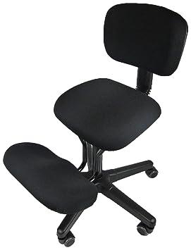 Solace Chaise Assis Genoux Noir 61 X 66 25 Cm