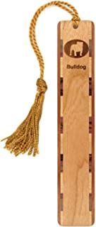 product image for Dog Bookmark - Bulldog Engraved Wooden Bookmark with Tassel