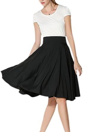 La Mujer Elegante Una Linea De Falda De Cintura Alta De Swing ...