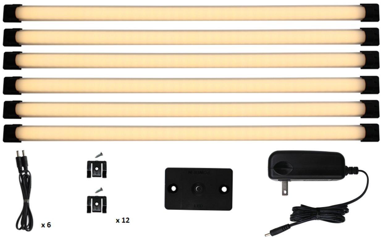 """New Under Cabinet Lighting Designer Series 18"""" Designer Series Super Deluxe Kit - Warm White 3000K   Inspired LED"""