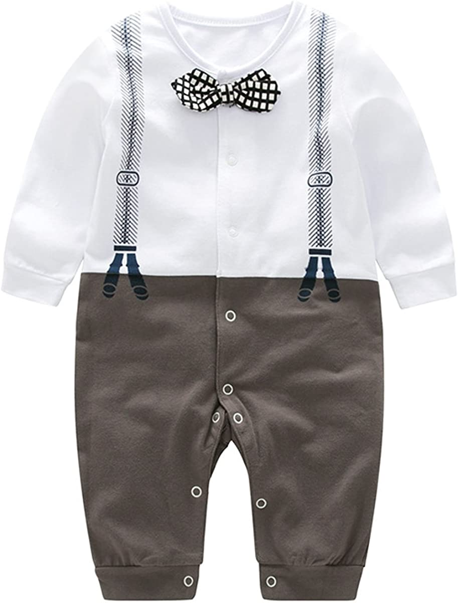 Bebone Baby Jungen Smokings Langarm Strampler Taufe Hochzeit Babybekleidung
