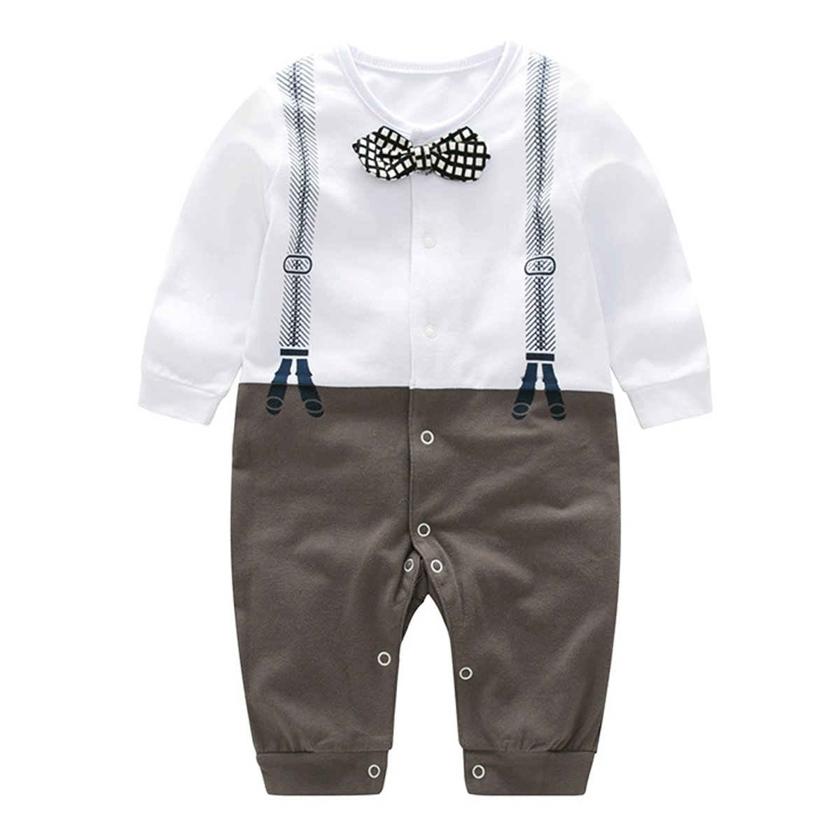 Bebone Baby Boys Outfits Clothes Wedding Gentleman Romper Jumpsuit Bowtie Bodysuit
