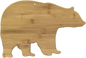 Totally Bamboo 20-7675 Bear Serving & Cutting Board, 15-Inch