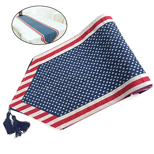 LUOEM Patrioric Tablecloth Table Cover American Flag Tablecloth for 4th of July Veterans Day Banquet Decor Patriotic Party -