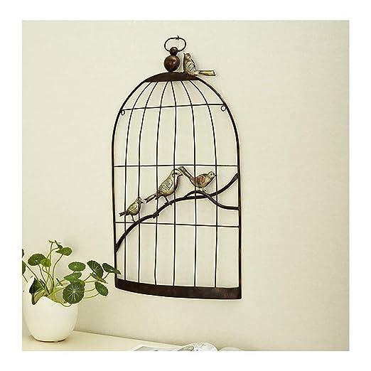 Asskanaer Jaula de pájaros de Hierro Forjado Europeo Decoración de ...