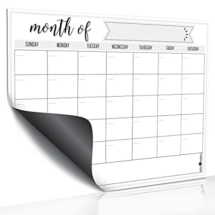 amazon com magnetic dry erase refrigerator calendar by planovation