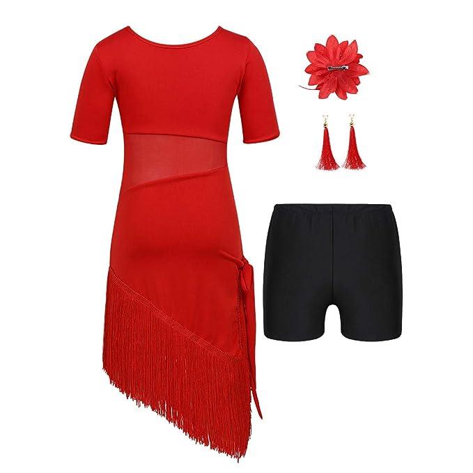 Amazon.com: inlzdz Kids Girls Rumba Tango Dance Outfits ...