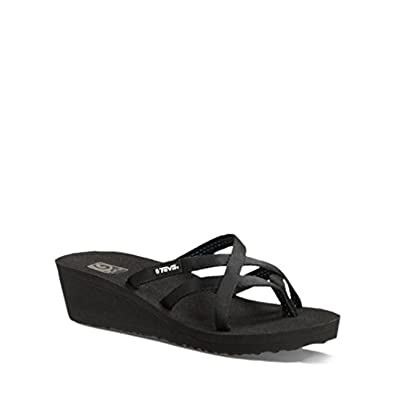 Women's Mush Mandalyn Wedge Ola 2 Sandals (Black11B)