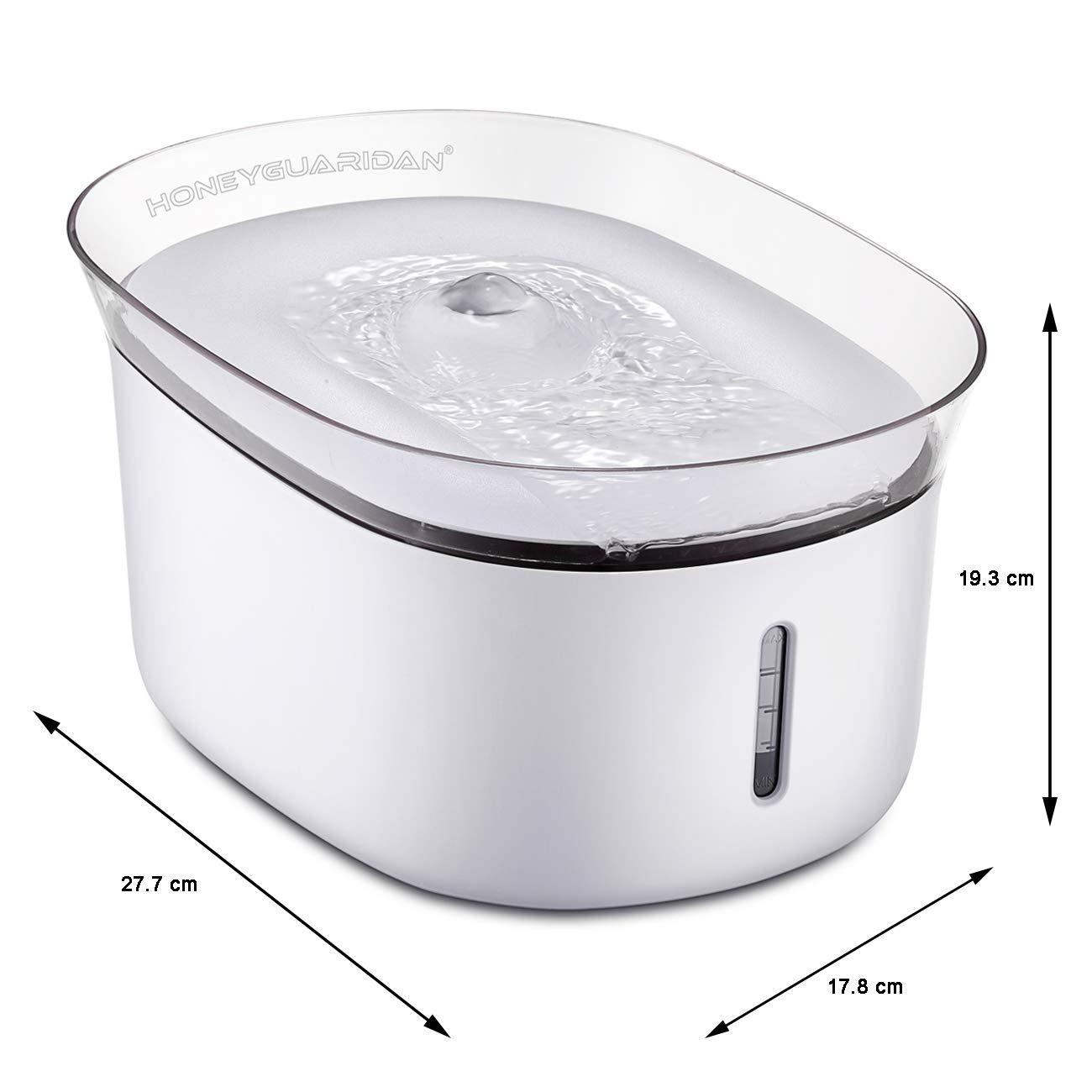 HoneyGuaridan W18 Fuente de Agua Automática para Mascotas, Bebederos Mascotas. 2