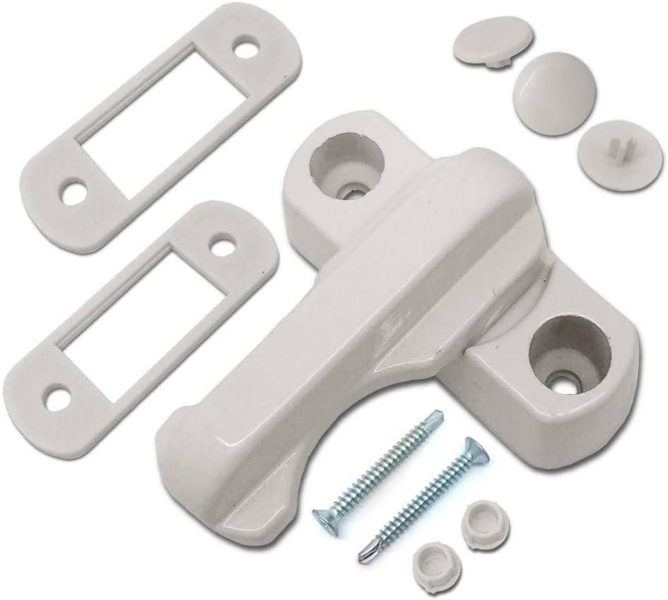 Fitting Screws High Security Arm UPVC PVC Window Door Lock 2Pcs Sash Jammer