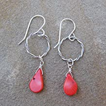 """Remi"" Sponge Coral Sterling Silver Earrings - or select your favorite gemstone!"