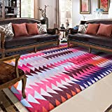 Fashion Geometry Home Rugs - MeMoreCool Nine Patterns No Fading Anti-slipping Simple Style Living Room Tea Table Carpets 71 X 71 Inch