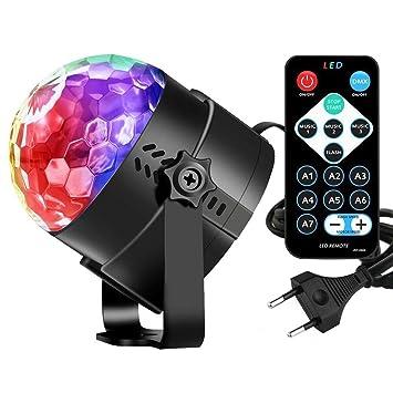 Leoker Discokugel Disco Party Licht Lichteffekte LED RGB Dj Musik ...