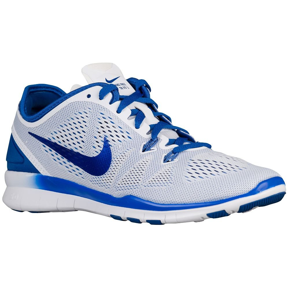 NIKE Women's Free 5.0 TR Fit 5 Training Shoe B00Q5YEBUK 11.5 B(M) US|white/Blue