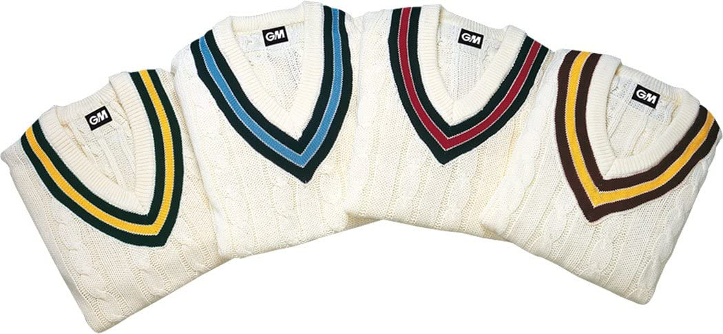 Gunn /& Moore Traditional Cricket Jumper Sweater Cable Knit Boys Mens XS,S,M,L,XL