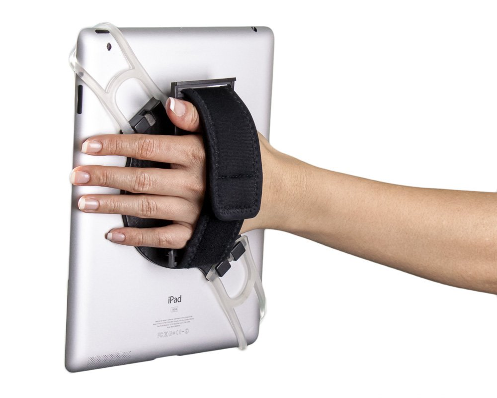 """Aleratec Universal 2-in-1 Tablet Hand Strap Holder Stand for Tablets 7in to 10"""""""