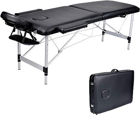 Lettino Massaggio Portatile In Alluminio.Wellhome Lettino Da Massaggio 2 Zone Alluminio Pieghevole