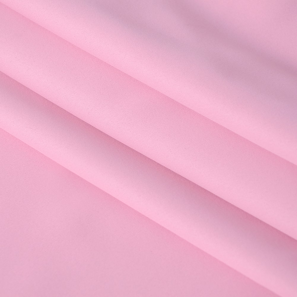 Grommet Thermal Insulated Room Darkening Curtains for Light Blocking and Privacy Anjee Pink Blackout Curtains for Girls Bedroom 2 Panels, W52 x L45 Inches Each, Baby Pink