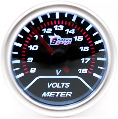 1x Automobile Noire Ampèremètre Instrument de Mesure Numérique Gauge LED