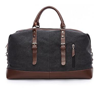 Amazon.com | Seamand Canvas Travel Duffel Bag Weekender Extra ...