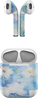 product image for Skin Decals for Apple AirPods - White & Blue - Sticker Wrap Fits 1st and 2nd Generation