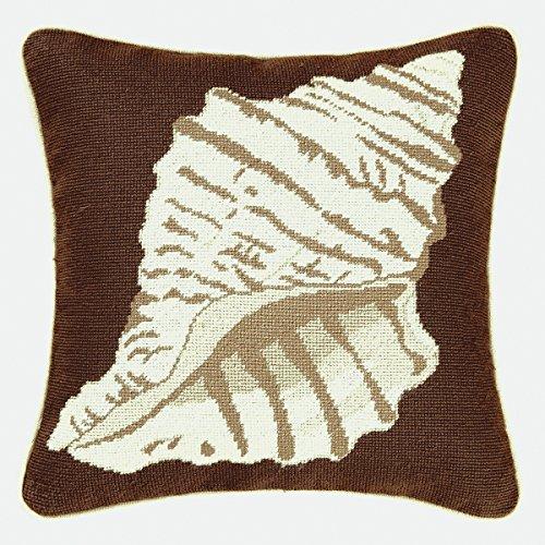 Shell Needlepoint Pillow - 16