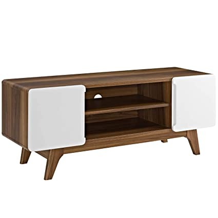 Amazon Com Modway Tread Mid Century Modern 47 Inch Tv Stand