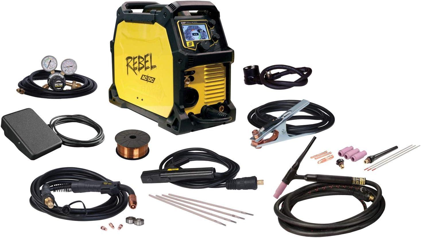 Esab Rebel Emp 205ic Ac Dc Multi Process Mig Stick Tig Welder Amazon Com