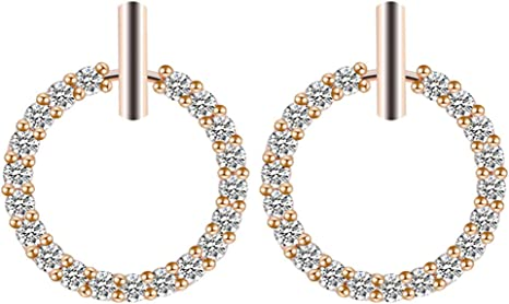 Fashion Circle Ear Rings Pearl Big Hoop Geometric Dangle Drop Earrings