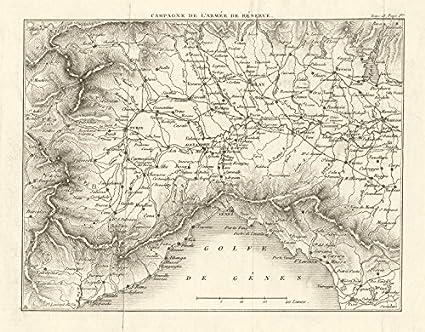 Amazon Com North West Italy Piemonte Liguria Piedmont 1819 Old