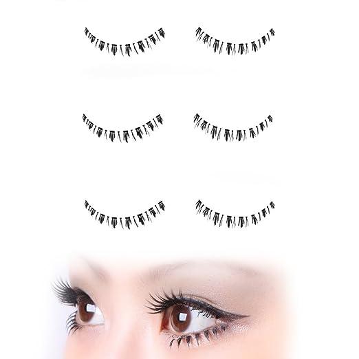 3962c113269 Amazon.com : Retro Style Twiggy Look Bottom False Eyelashes - 3 Pair Set |  Strip Falsies for Your Ultimate Eye Makeup Look.
