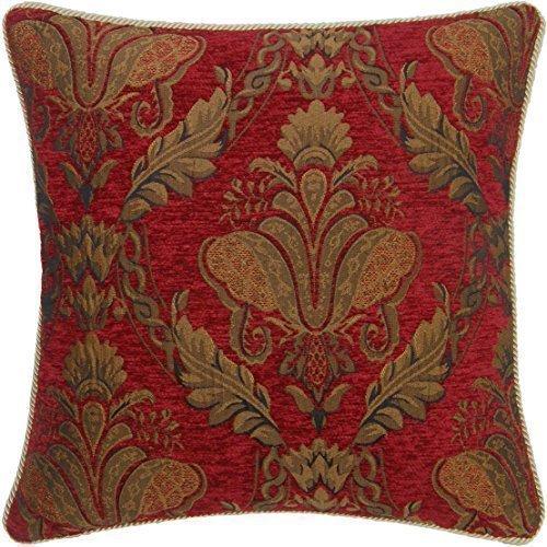 Oro rojo diseño FLORAL con diseño de 45,72 cm de grosor funda para cojín #RIV ZARIHS **