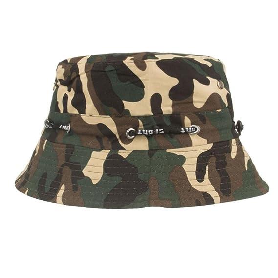 AIMEE7 Gorra Ajustable Camuflaje Boonie Sombreros Gorra Nepalesa Sombrero  De Pescador Militar Para Hombre (Caqui 836f26b67d02