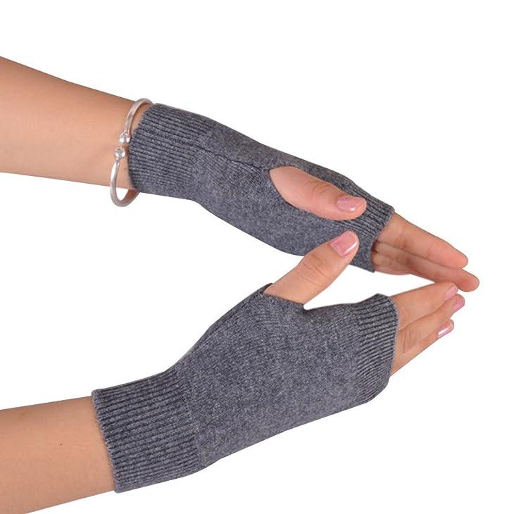 NOVAWO Thumb Hole Warm Gloves Mittens for Men Women