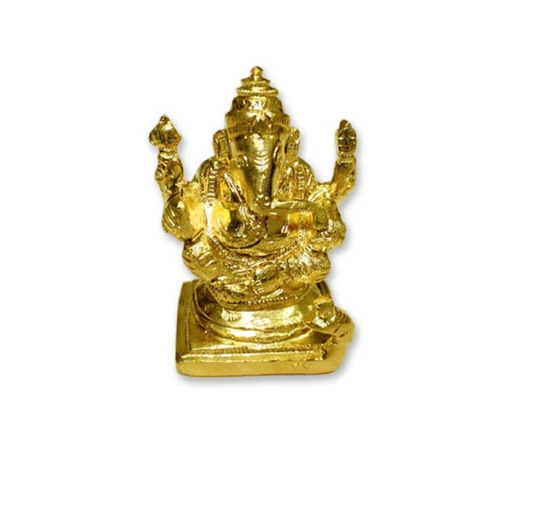 Amazon.com: Ganesh Idol In Panchdhatu Hindu Religious God Sculpture ...
