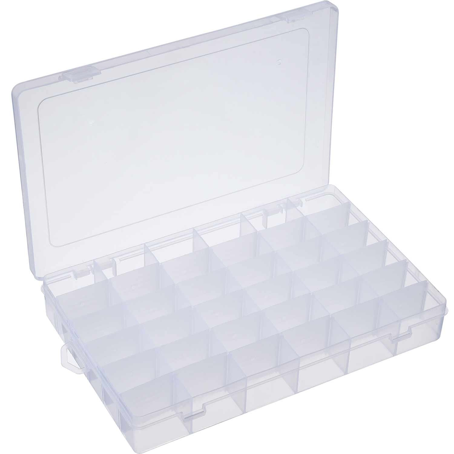 Outus 2 Pack 36 Grids Jewelry Dividers Box Organizer Adjustable Clear Plastic Bead Case Storage Container by Outus