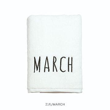 Toalla LINGZHIGAN Home Hotel baño de algodón Puro Adulto Súper Personalidad Absorbente Patrón Más Grueso baño Suave 70 * 140 cm (Color : Blanco, ...