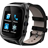 Xinyi X01S Standalone Smartwatch Android System Phone WRISTWATCH SMARTPHONE with SIM Card Slot Camera Heart Rate Monitor Bluetooth Function Cellphone and Handmade Italian Cowhide Leather Watchband