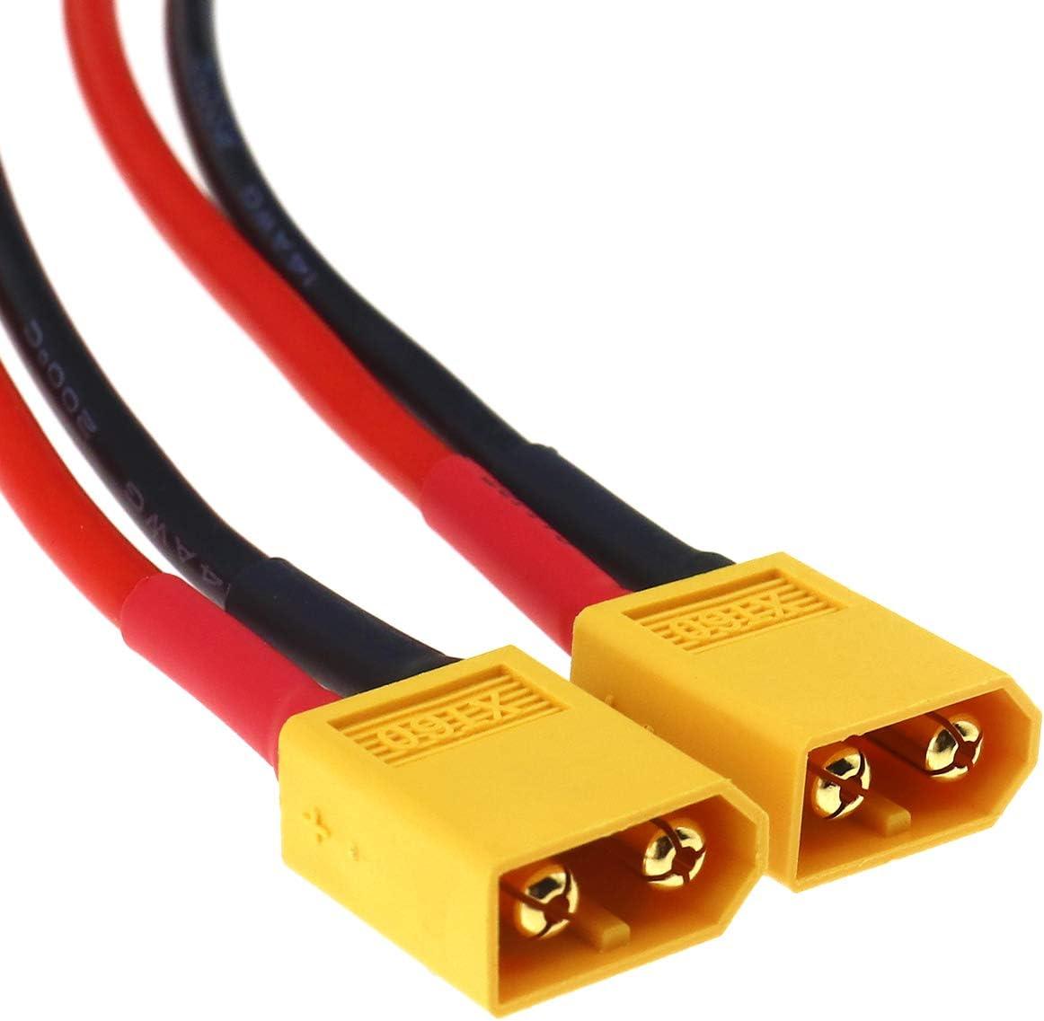 OTOTEC Lot de 2 adaptateurs de Charge de Batterie XT60 14 AWG 36 cm