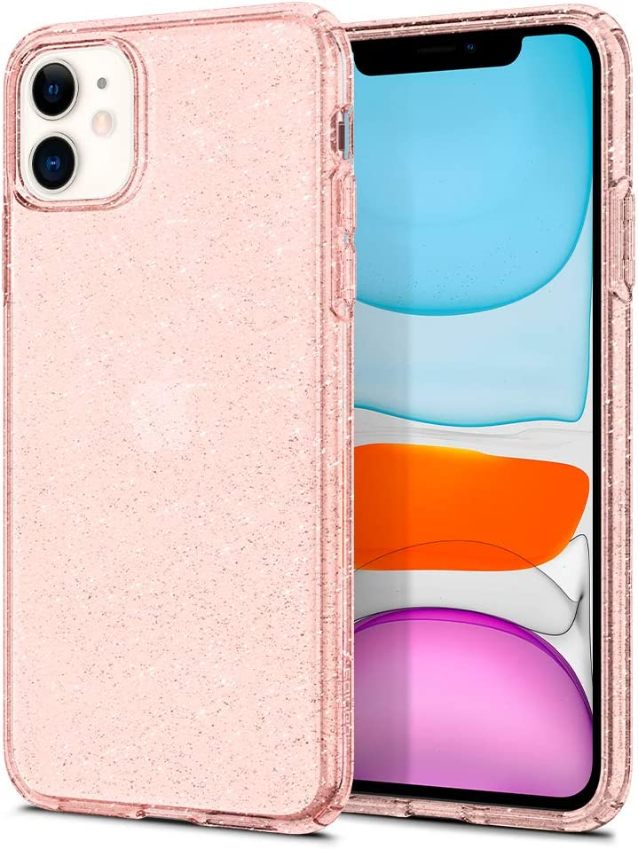 Spigen Liquid Crystal Glitter Designed for iPhone 11 Case (2019) - Rose Quartz