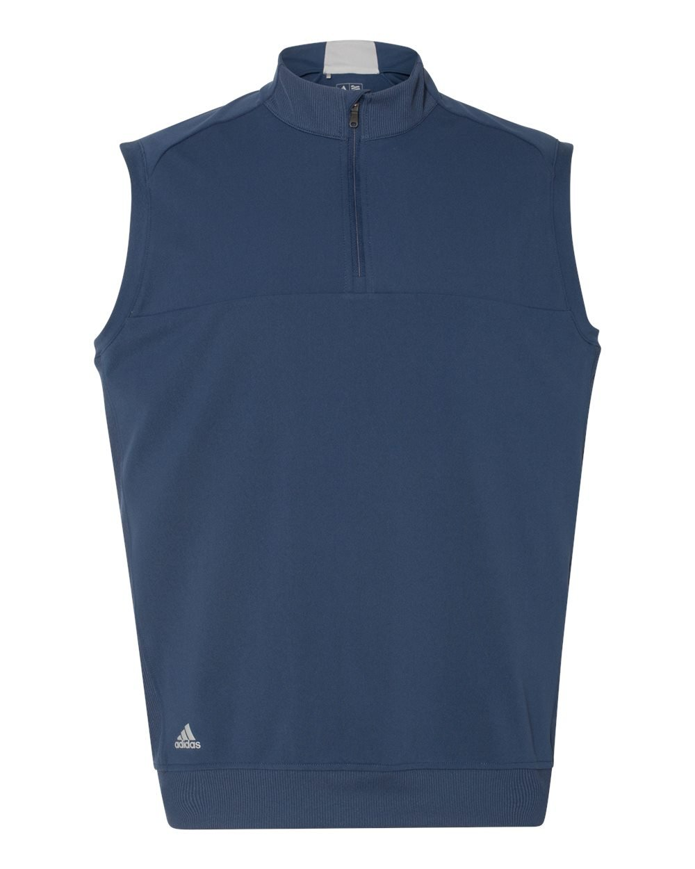 adidas Golf Mens Quarter-Zip Club Vest (A271) -Dark Slate -L
