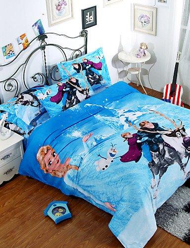 ZQパーソナリティスタイルCartoon綿寝具セットツインセットQueen Kingサイズ羽毛布団カバーセット、クイーン B01EH2DG0M