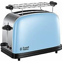 Russell Hobbs Grille Pain Extra Large, Toaster Colours Plus, Technologie Cuisson Rapide Uniforme, Contrôle Brunissage, Chauffe Vionnoiserie Inclus - Bleu 23335-56