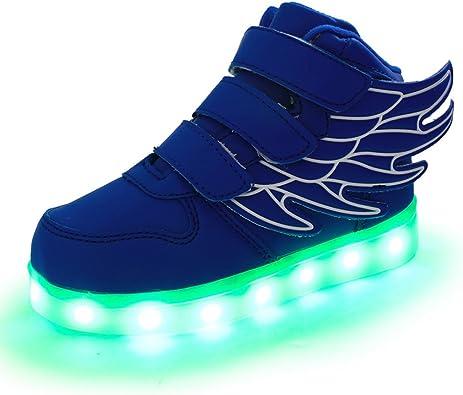 DoGeek Zapatos Led Niños Deortivos para 7 Color USB Carga LED Luz ...