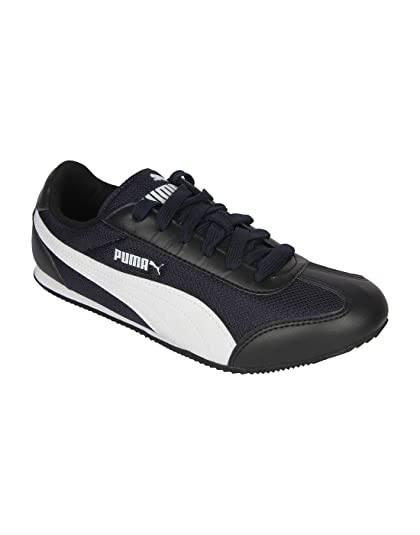 f6420ef0e23330 Puma Men 76 Runner DP Navy-Black Training Shoes  Buy Online at Low Prices  in India - Amazon.in