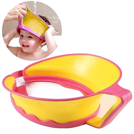 91abaf181 ONEDONE ajustable Champú de baño ducha Protect Cap Visera Sombrero para bebé  Niños Niños Adultos azul