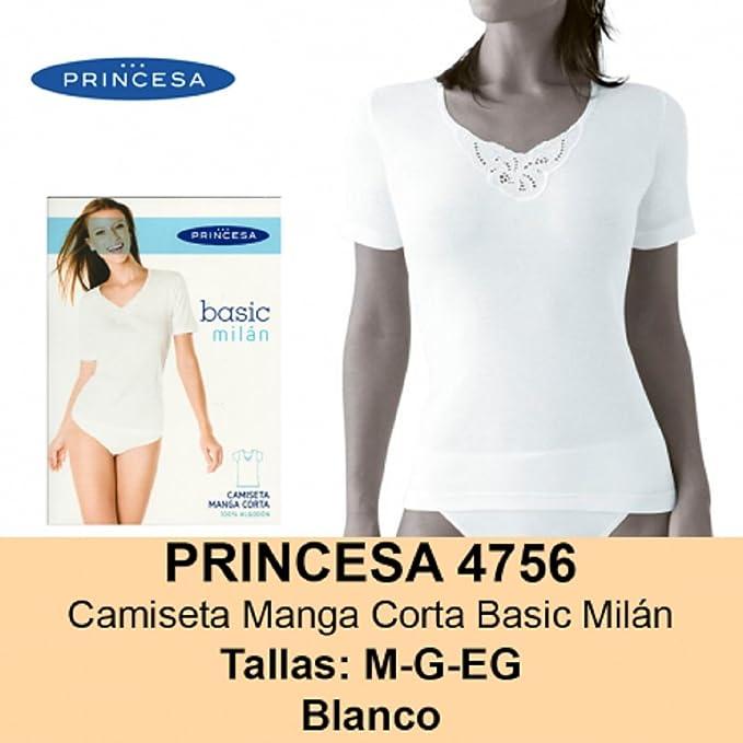 PRINCESA 4756 - camiseta manga corta mujer 100% algodon.: Amazon.es: Ropa y accesorios