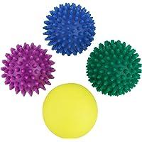 BB Sport Massageballen Noppenbal 4 Pack Verschillende Graden Hardheden