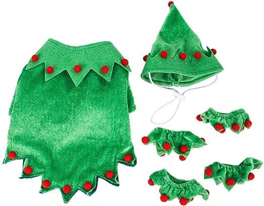 UNWSTYU - Disfraz de Elfo de Invierno para Mascotas con pompón ...
